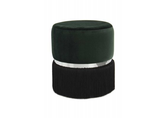 Пуф Milano T125 Dark Green/Black/Silver