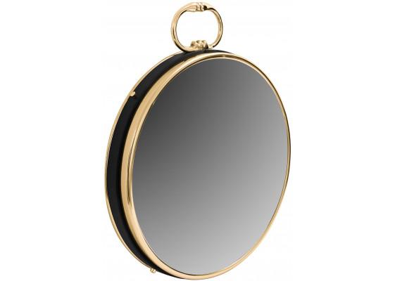 Настенное зеркало Round 925 Gold/Black Ø 41 cm