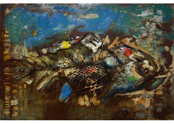 Фреска металлическая Fish