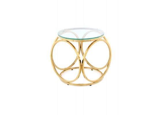 Стол Kurt SM125 Clear/Gold