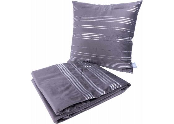 Набор подушка и плед Prisma 525 Graphit/Silver