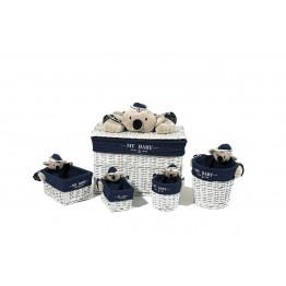 Набор корзин Koala TD190 Blue/White