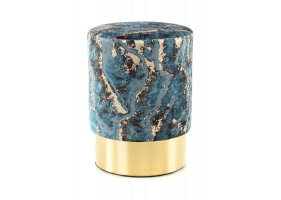 Пуф Caramel T325 Dark blue/Gold