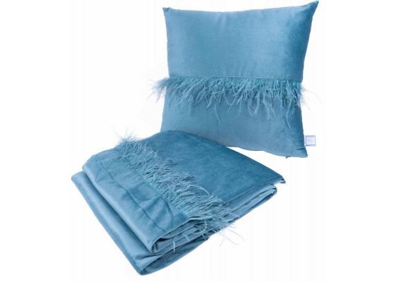 Набор подушка и плед Palmira Aqua